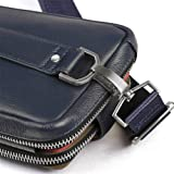 PADIEOE Mens Genuine Leather Crossbody Bag Chest