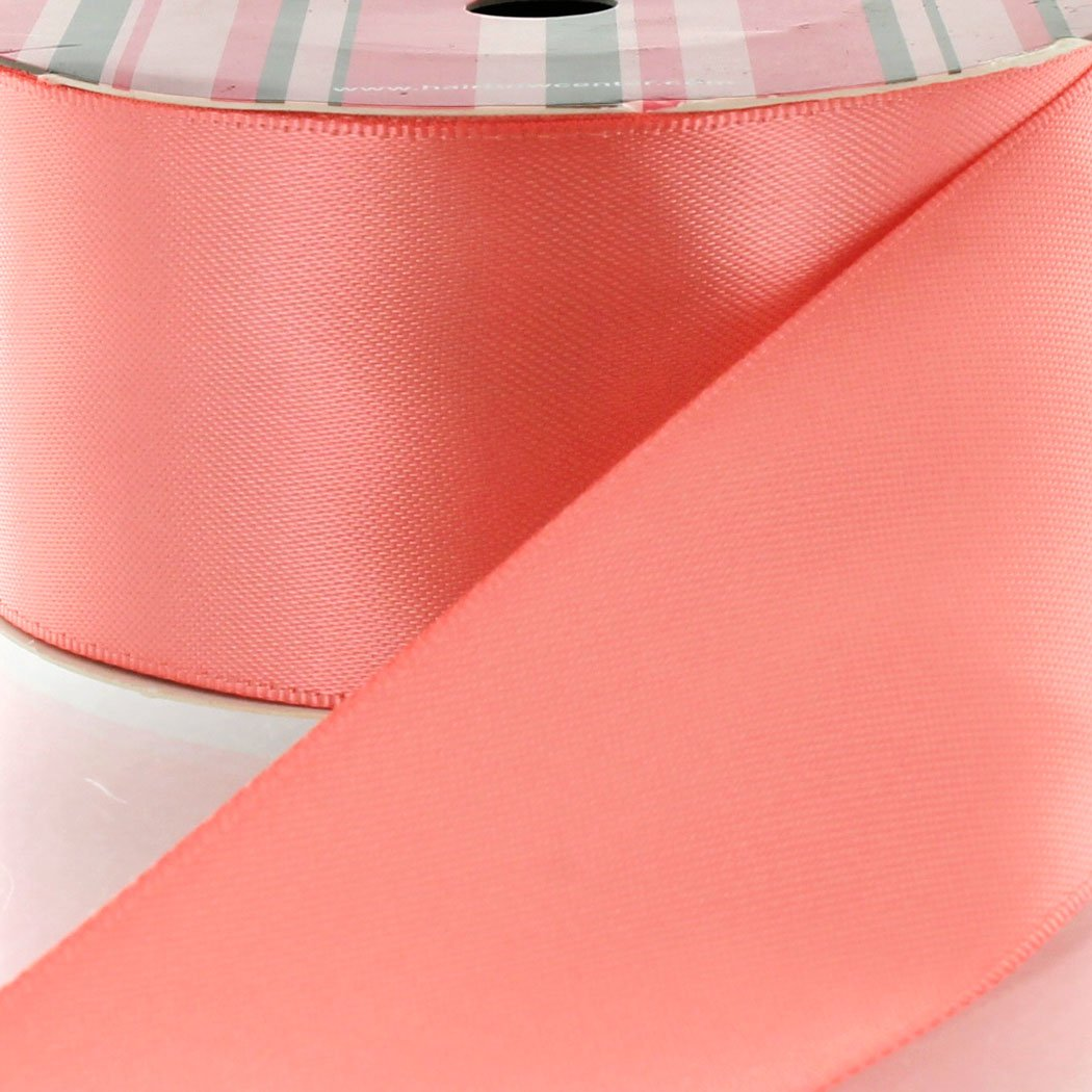 4'' Lt. Coral Double Faced Satin Ribbon 25 yard Reel