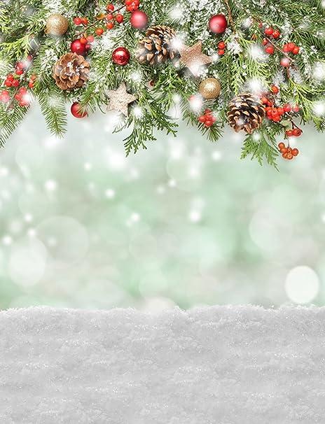 Christmas Boarder.Amazon Com Festive Photography Backdrop Christmas Border