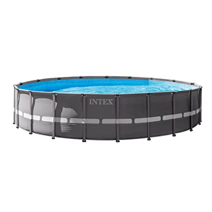Intex 20u0027 X 52u0026quot; Round Above Ground Durable Ultra Frame Pool Set +