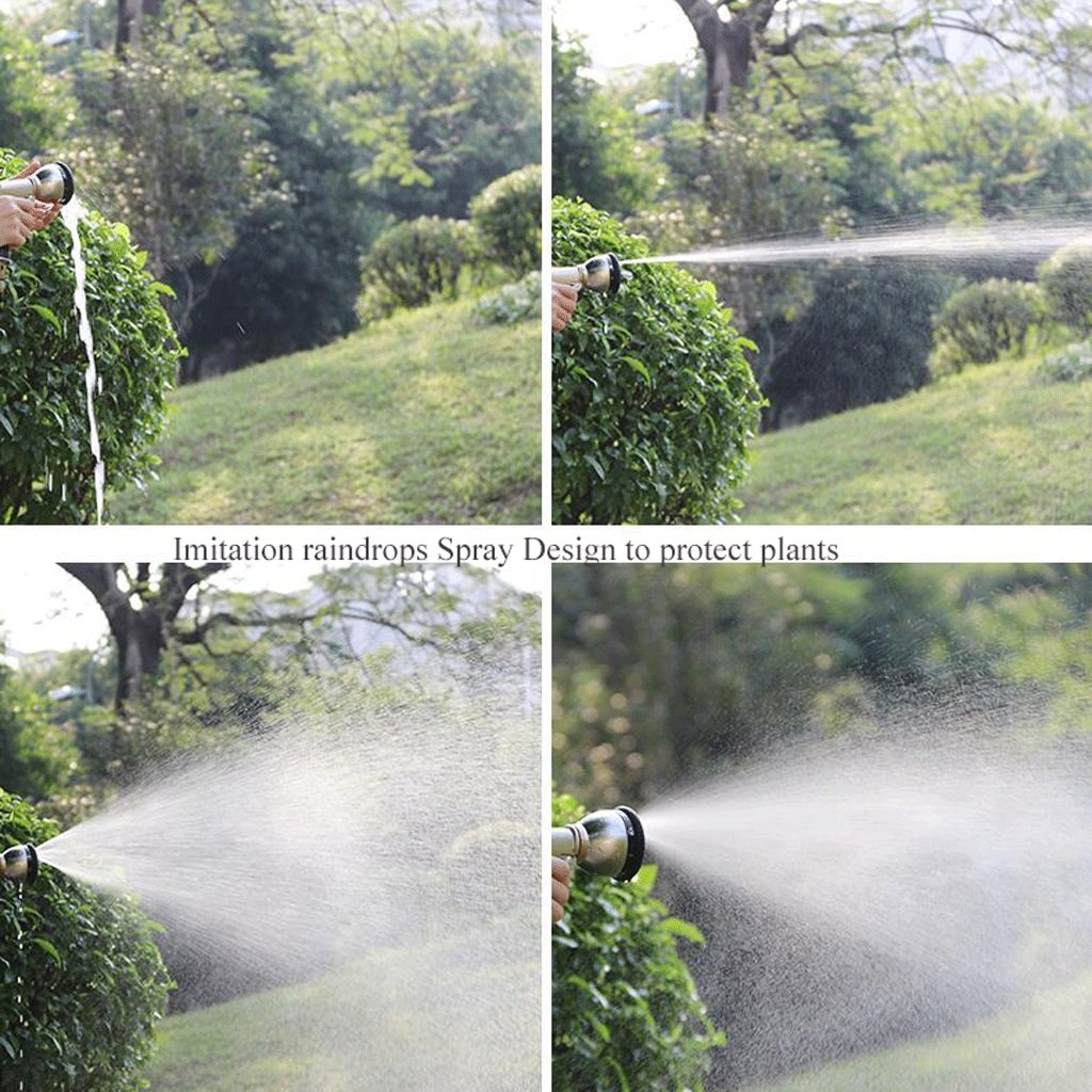 Hongyan Watering Can Garden Hoses Nozzle Reels 8 Ways Showers Car Cleaning Flower Watering Spray Supplies Garden Car Wash Watering Equipment Nozzles Spray Guns Drip Systems(60M) A+ (Size : 10M)