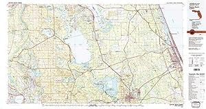 YellowMaps Daytona Beach FL topo map, 1:100000 Scale, 30 X 60 Minute, Historical, 1978, Updated 1980, 24.1 x 45.5 in