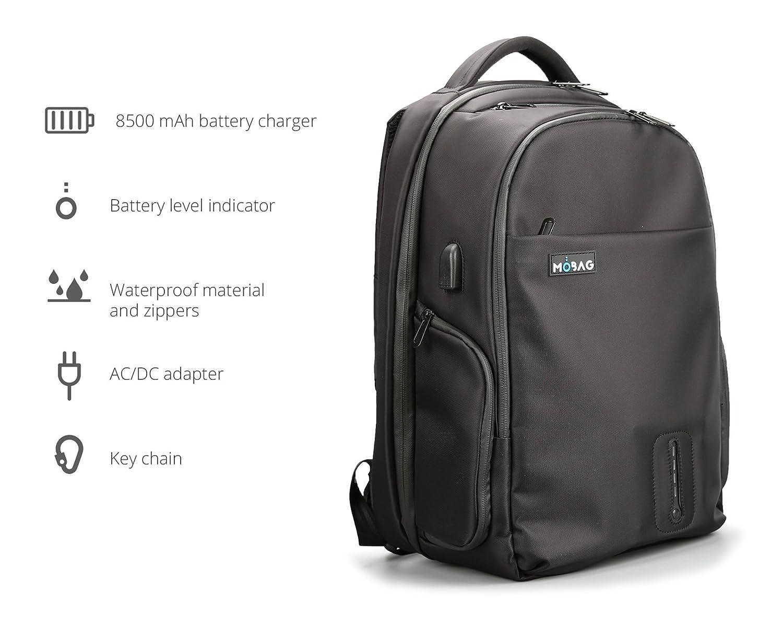 MOBAG Mochila con batería incluida Cargador USB para Dispositivos ...