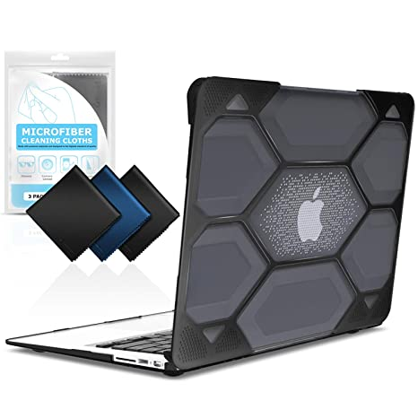 best sneakers 2e2c3 338d9 iBenzer Hexpact MacBook Air 13 Inch Case, Heavy Duty Protective Hard Case  Shell Cover with Cleaning Cloth for Apple MacBook Air 13 A1369 A1466 NO ...