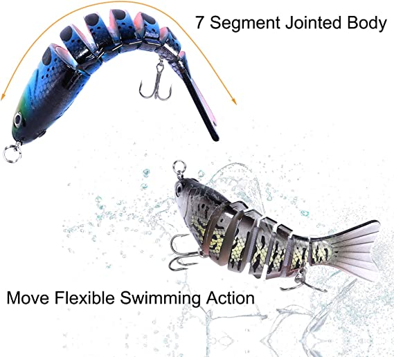 Details about  /Multi-section Bait Suitable For All Kinds Of Fish Jointed Bionic Swimming Lures