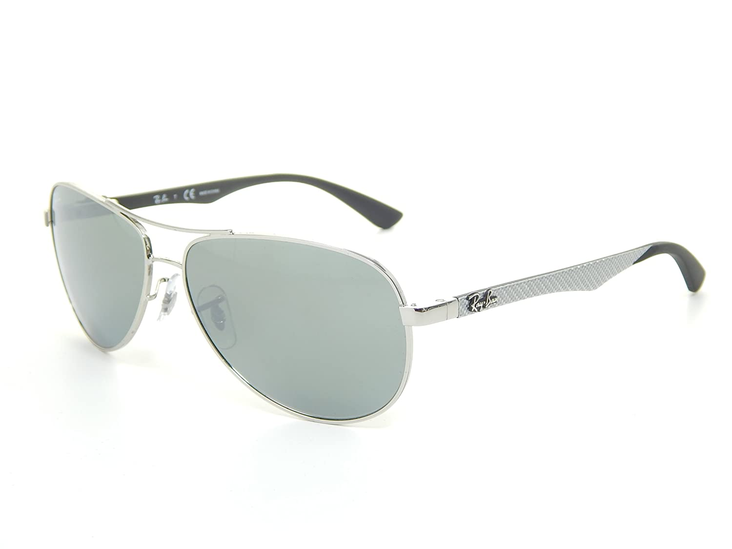 6beb50f4e4d New Ray Ban Tech RB8313 003 40 Silver Grey Mirror Lens 58mm Sunglasss   Amazon.co.uk  Shoes   Bags