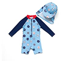 Bonverano Baby boy UPF 50+ Sun Protection One Pieces Swimsuit (9-12 Months)