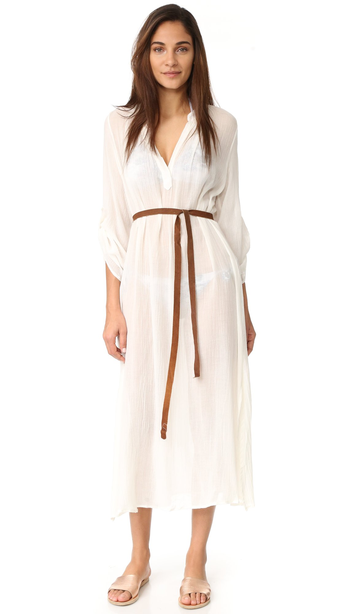 Eberjey Women's Summer Of Love Haven Cover Up Dress, Cloud, S/M by Eberjey (Image #1)