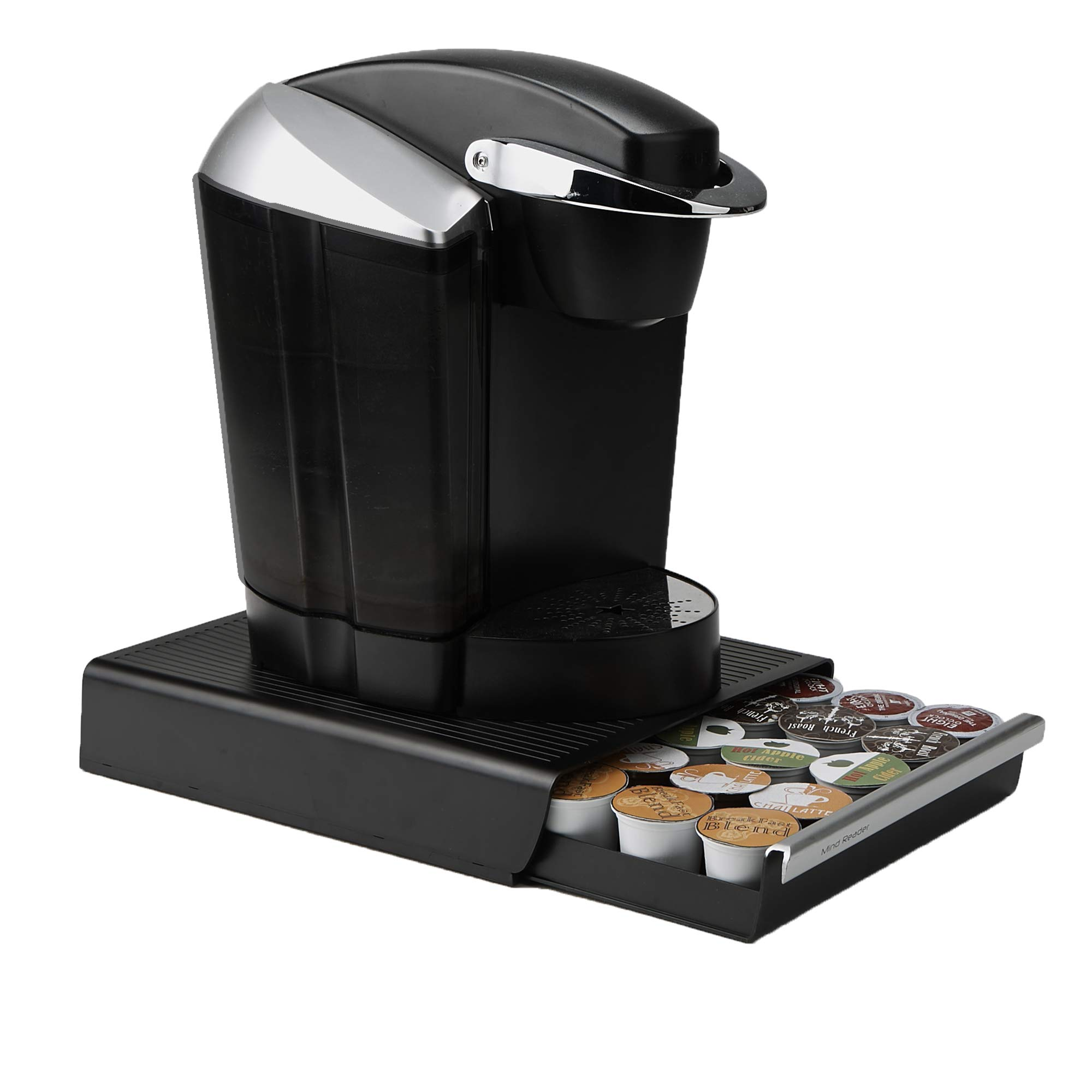 Mind Reader Coffee Pod Storage Drawer for K-Cups, Verismo, Dolce Gusto, Holds 30 K-Cups, 35 CBTL, Verismo, Dolce Gusto, Black by Mind Reader