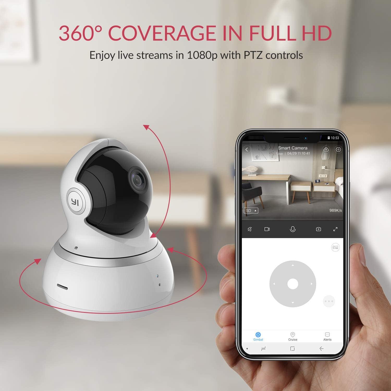 Cámara de vigilancia WiFi YI con detección de movimiento, visión nocturna, audio bidireccional y compatible con Alexa. por 34,99€ usando el #código: JG6K3BPG