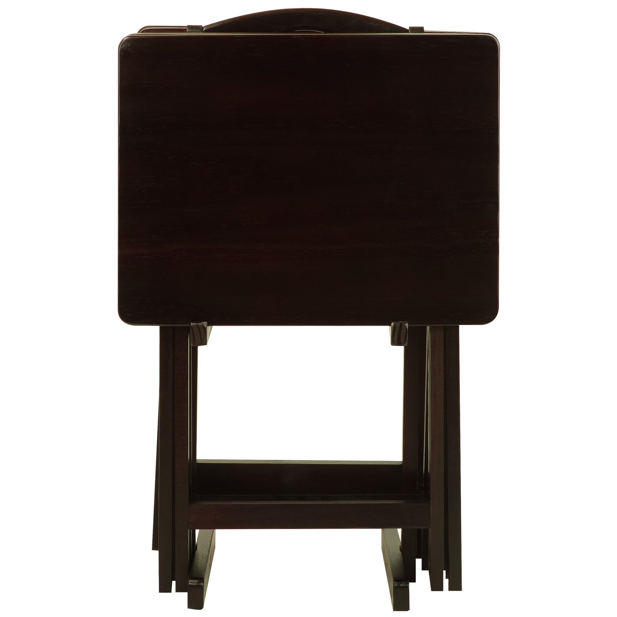 Casual Home 660-44 5-piece Tray Table Set-Espresso by Casual Home (Image #6)