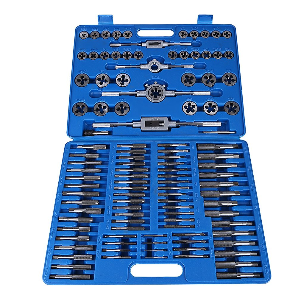110 Pieces Taps Set M2-M18 Metric Die with Box Taps and Die Set