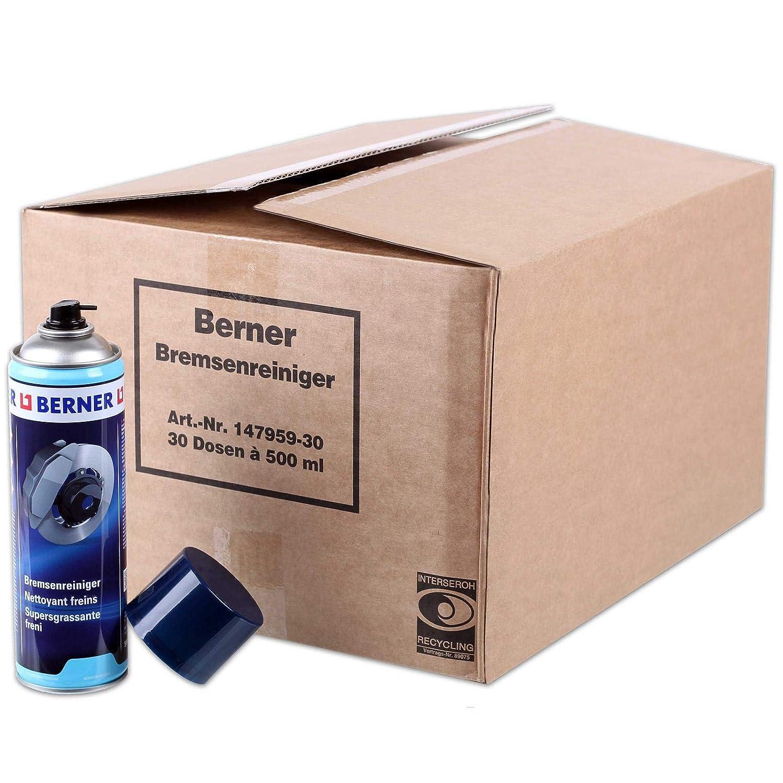 1 Karton Berner Bremsenreiniger 30x Dosen 147959 Entfetter 500ml Sprühdose Reiniger Gewerbe Industrie Wissenschaft
