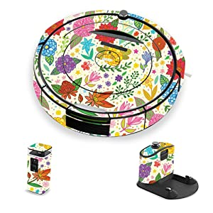 MightySkins Skin Compatible with iRobot Roomba 690 Robot Vacuum - Flower Garden | Protective, Durable, and Unique Vinyl Decal wrap Cover | Easy to Apply, Remove, and Change Styles | Made in The USA