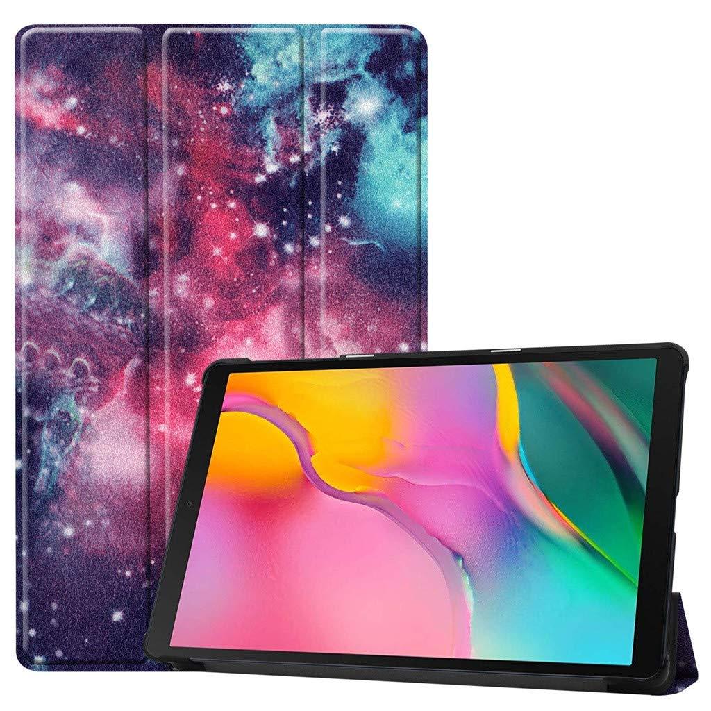 Coque pour Samsung Galaxy Tab A 10.1 2019 SM-T515, Cuir Shell Clapet Housse de Protection, JSxhisxnuid Mode Peint Protecteur Tablette à Rabat Magnétique, pour Samsung Galaxy Tab A