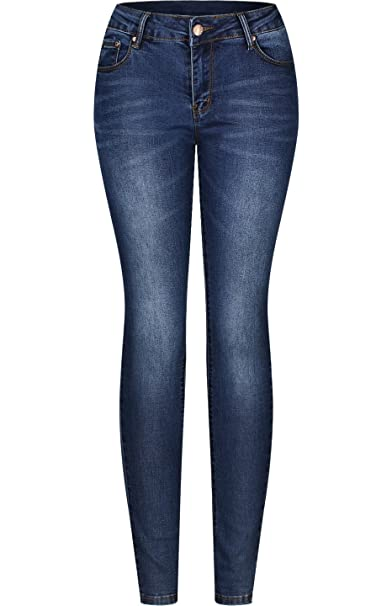 1404533c59f1 2LUV Women s 5 Pocket Ankle Stretch Skinny Jeans at Amazon Women s ...