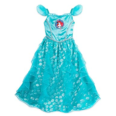 8a1ea789be Amazon.com  Disney Ariel Nightgown for Girls Size 5 6 Blue  Clothing