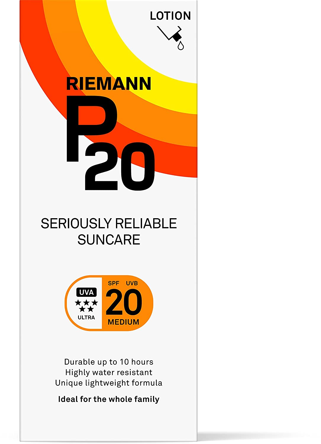 Riemann P20 Once a Day 10 Hours Protection SPF 20 Medium, 100ml 40015896