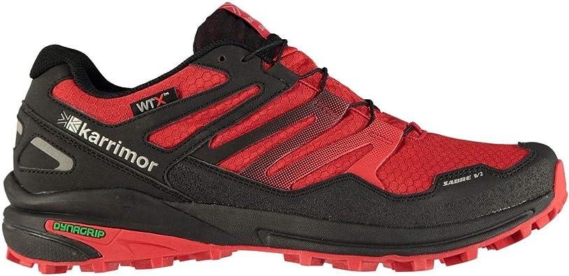 Karrimor Hombre Sabre 2 Wtx Zapatillas Deportivas De Trail Running Negro/Rojo 43 1/3 EU: Amazon.es: Zapatos y complementos