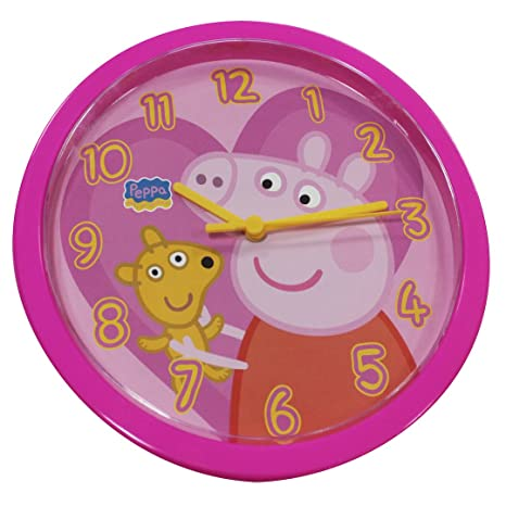 Peppa Pig 4480111_F_WT Reloj de Pared para niñas
