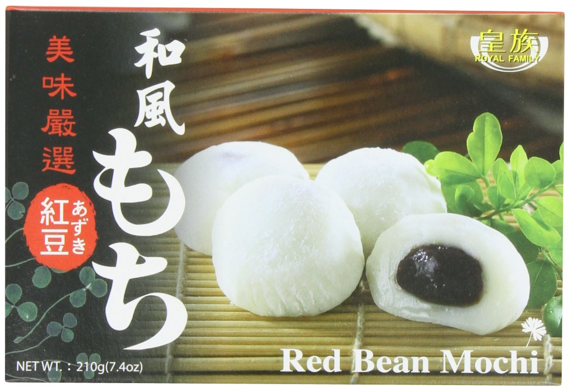 Royal Family Japanese Mochi Red Bean, 7.4-Ounce (Pack of 8)