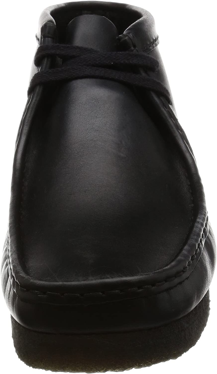 Clarks Men's Wallabee Moccasin Boots Black Black Leather