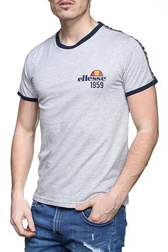 Ellesse T-Shirt Eh Homme Bande Gris Chiné, Camiseta