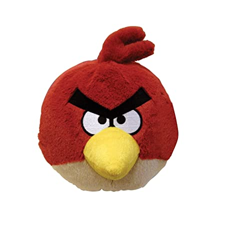 Amazon Com Angry Birds Plush 5 Inch Red Bird With Sound