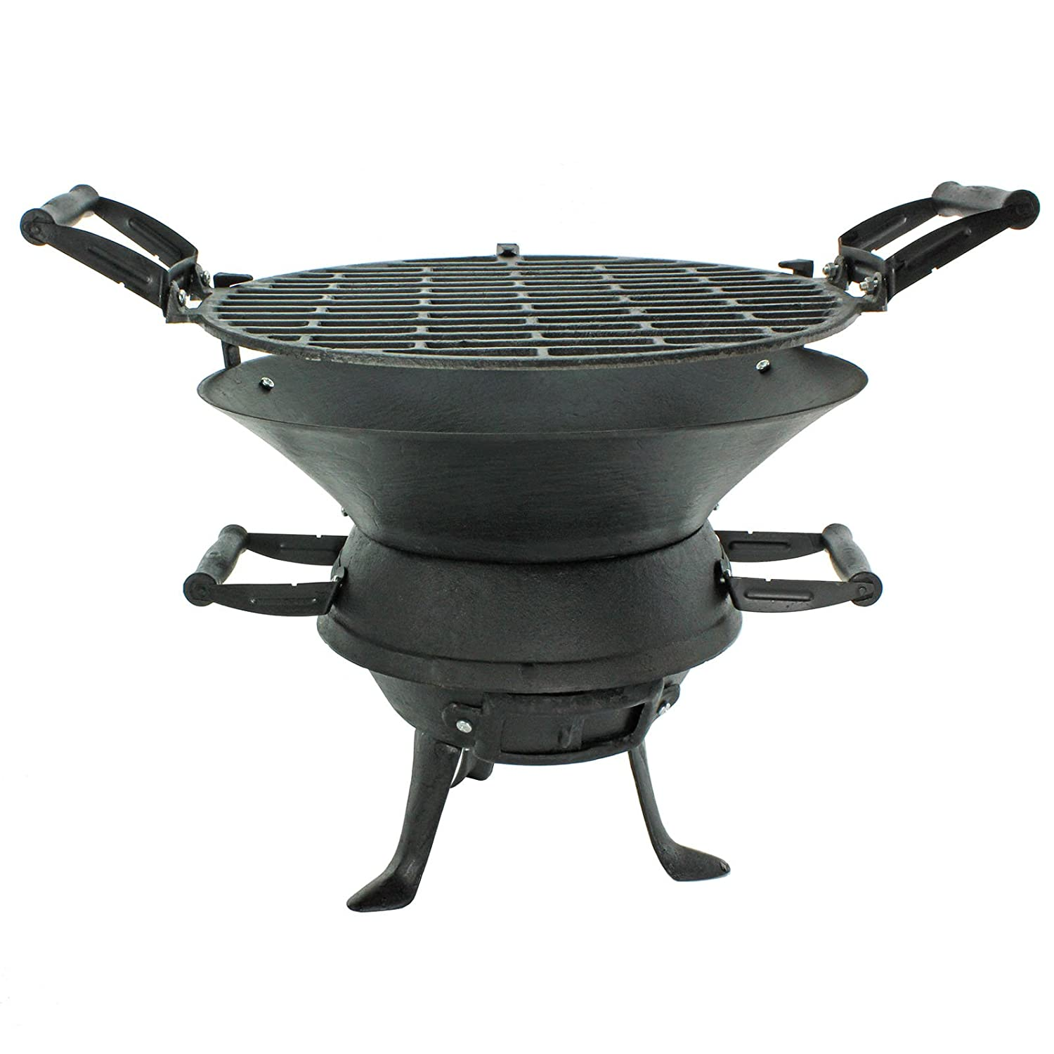 first4spares outdoor fire pit bbq basket garden barbeque grill