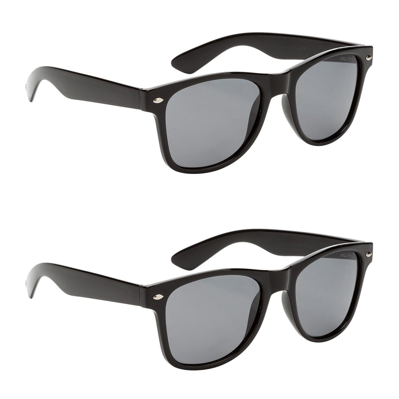 84f85f3bdb05 Amazon.com  Classic Adult Eyewear 53mm POLARIZED Caminantes Wayfarers  Sunglasses (2 Pack Black