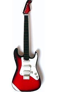 Guitarra en miniatura decorativa Guitarra Guitar Fender Stratocaster 24 cm color Rojo # 166