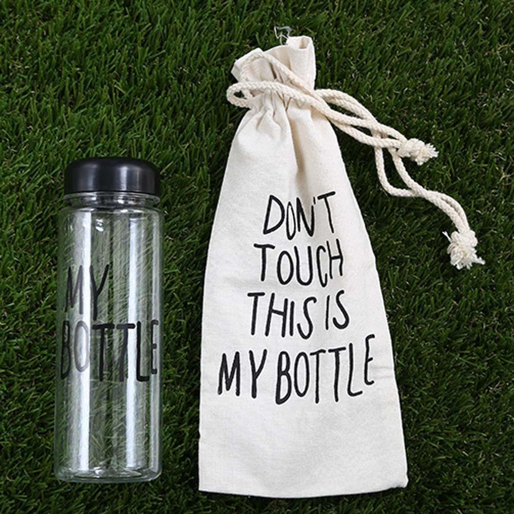 Urparcel Dont Touch This Is My Bottle Water Cup And Bag Boutle Portable Sport Plastic Fruit Juice 500ml Canvas