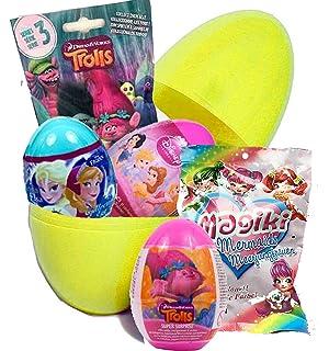 Huevos Big Surprise, con sorpresas de juguete de las películas Trollz y Frozen, de