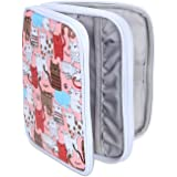 Teamoy Organizer Case for Interchangeable Circular Knitting Needles, Crochet hooks and Knitting Accessories, Keep All in One Place and Easy to Carry, Cats Pink (No Accessories Included)