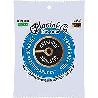 Martin Guitar MA530 Authentic Acoustic Extra Light Guitar Strings, 92/8 Phosphor Bronze