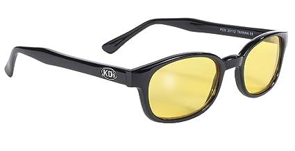 edec31b57 Pacific Coast Original KD's Biker Sunglasses (Black Frame/Yellow Lens)