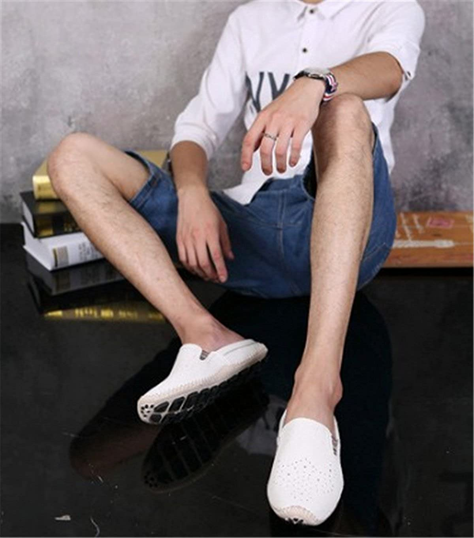 BININBOX Mens Flat Sandal Breathable Shoe Closed-Toe Slippers Driving