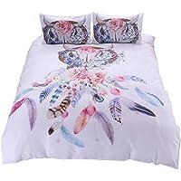 YOUSA Rustic Floral Mandala Pattern Bedding Set Boho Duvet Covers (Twin,01)