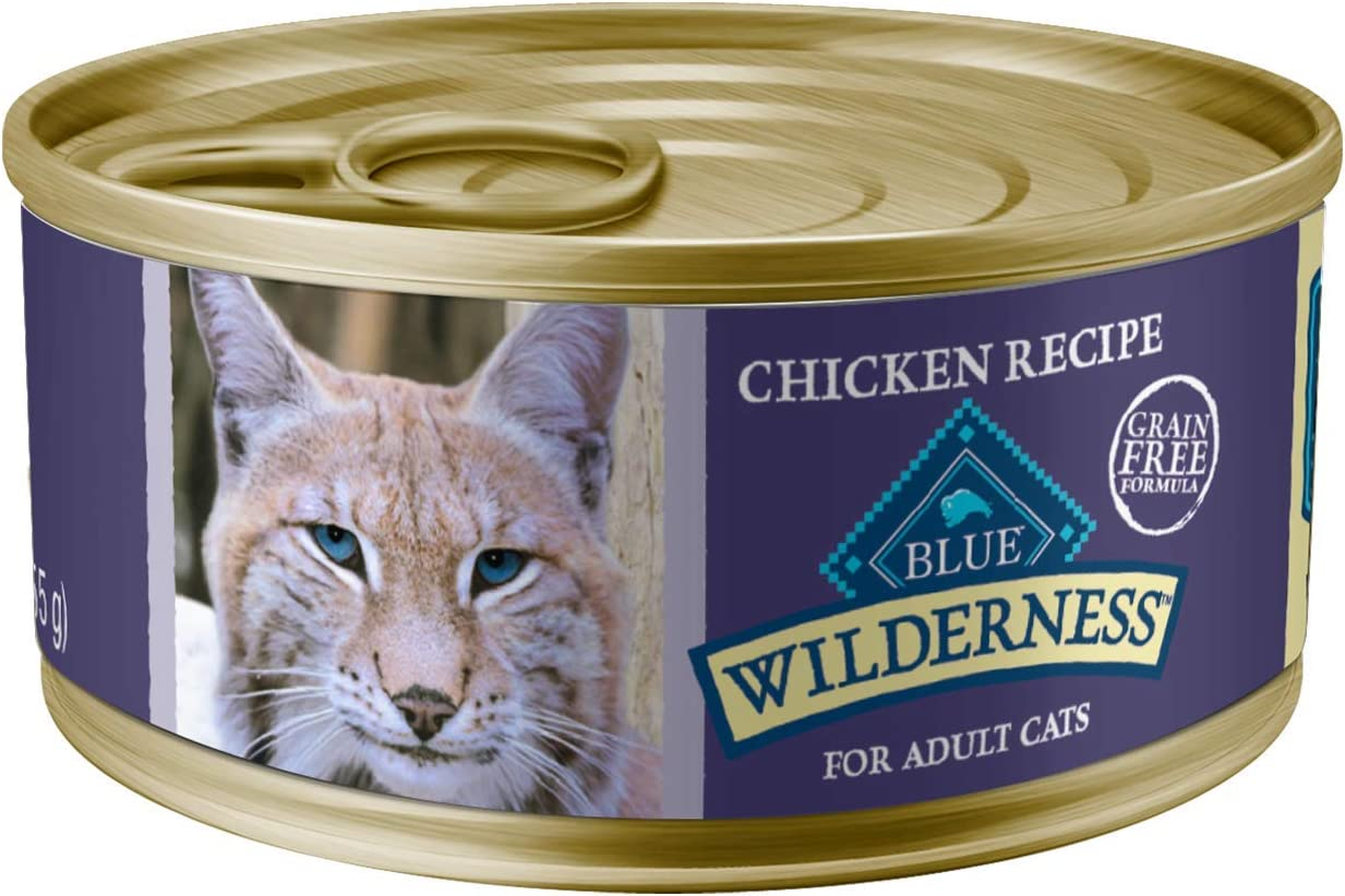 Blue Buffalo Wilderness High Protein Grain Free, Natural Adult Pate Wet Cat Food