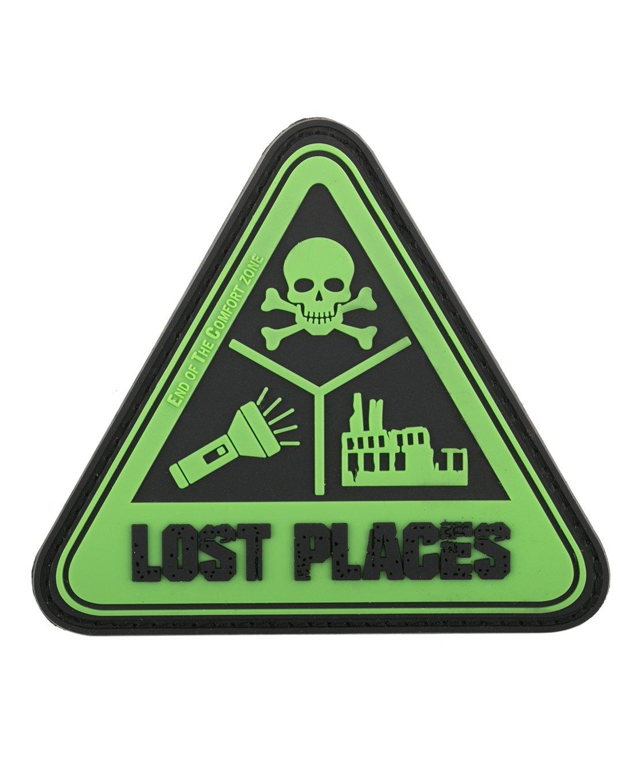 Lost Places 3D Rubber Patch Aufnä her Abzeichen - Neongrü n Fritz Meinecke