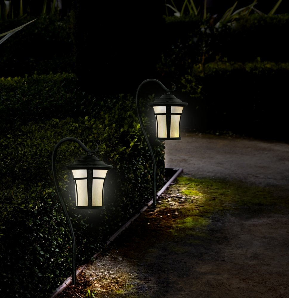 Textured Black LED Carriage Landscape Light with Hook - Landscape Path  Lights - Amazon.com - Textured Black LED Carriage Landscape Light With Hook - Landscape