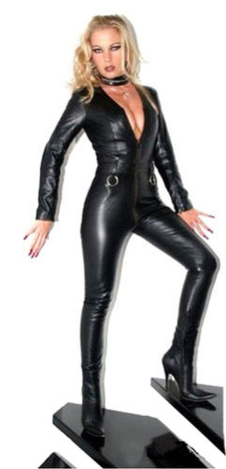 e87040e0004 Forever Young Ladies Lycra Spandex Bodysuit Catsuit Dress PVC Catsuit Sexy Hen  Party Outfit XXL UK Size 16  Amazon.co.uk  Clothing