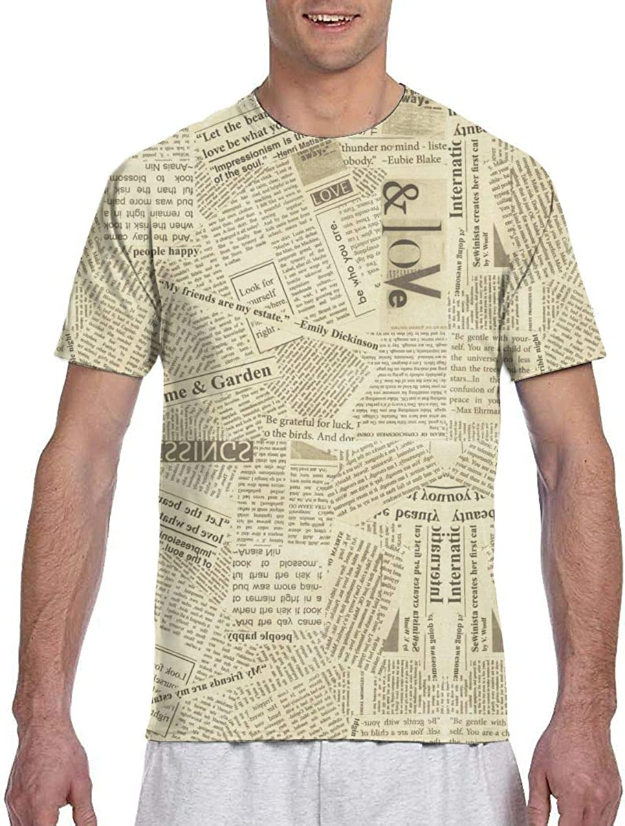 Mens 3D Printed Shirt Regular-Fit Top Summer Graphic Tee Shirts