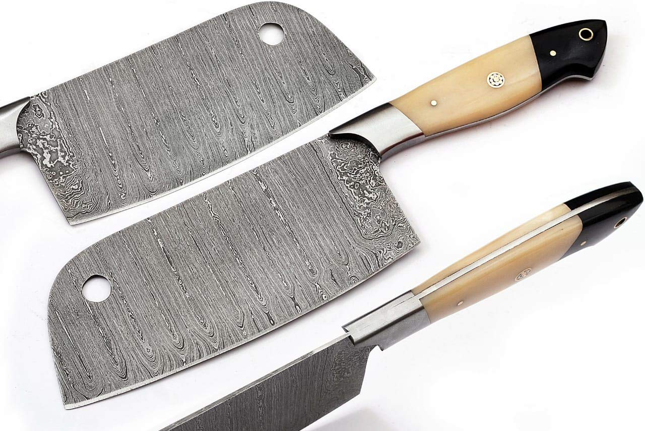 16C Handmade Custom Beautiful Damascus Steel Chef Kitchen bbq Chopper or Cleaver Knife by GladiatorsGuild Domesco