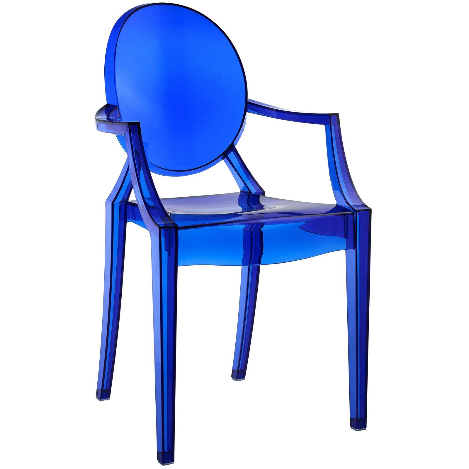 Modway Casper Modern Acrylic Dining Armchair in Blue by Modway