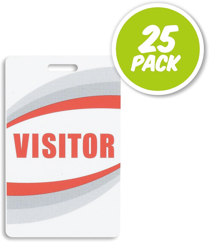Amazon.com: Tarjeta de plástico preimpresa para visitantes ...
