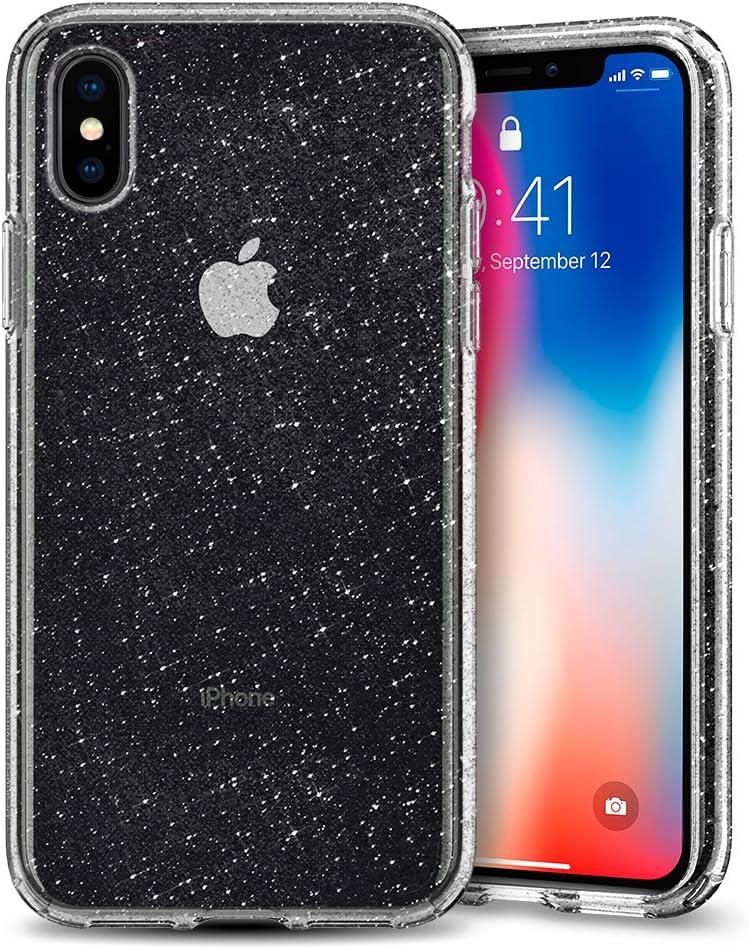 Spigen Liquid Crystal Designed for iPhone Xs Case (2018) / Designed for iPhone X Case (2017) - Glitter Crystal Quartz