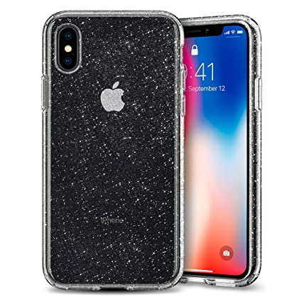 size 40 1b1f7 954ca Spigen Liquid Crystal with Slim Protection Works with iPhone Xs Case (2018)  / iPhone X Case (2017) - Glitter Crystal Quartz