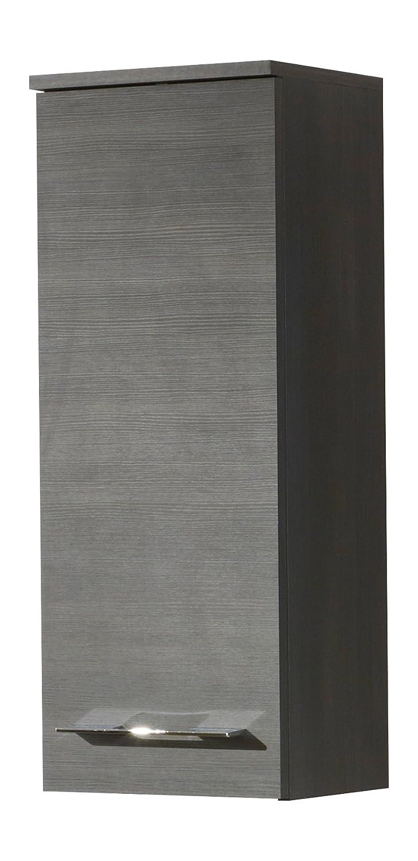 Kesper Badmöbel Hängeschrank, 1 Tür, 2 Einlegeböden, Schwarz, 21 x 30 x 75 cm