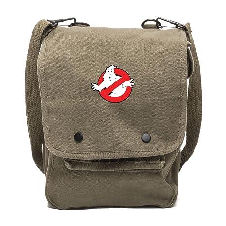 Amazon com : Grab A Smile Ghostbusters Logo Canvas Crossbody